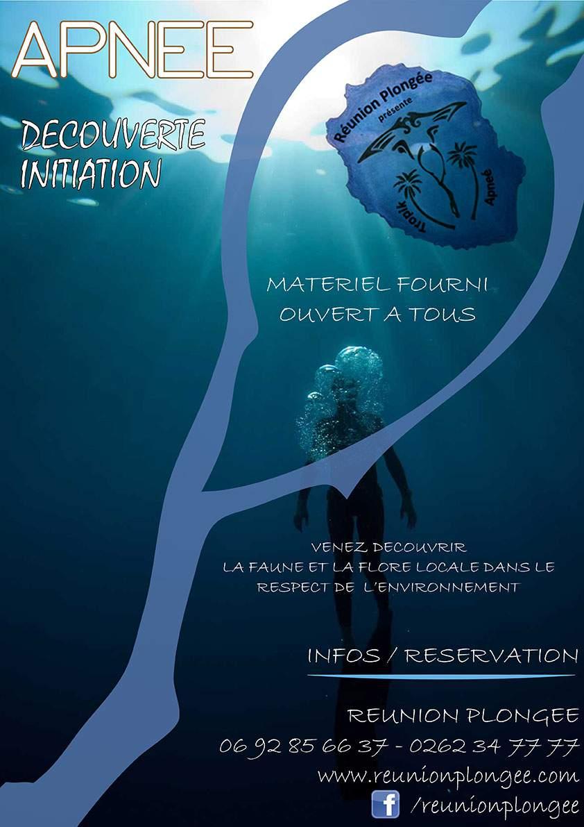 initiation et découverte de la plongée en apnée sur l'île de la Réunion